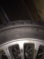 """OEM BMW 17"""" 5x120 with winter tires"""