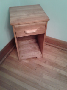 """Solid Maple Night Stand Size: 15.25"""" wide by 14"""" deep by 23.5"""" h"""
