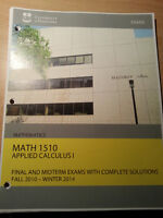 Math 1510 Calculus 1 Final and Midterm Exams 2010-2014