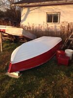 15 foot aluminum deep hull $700 OBO try your trades