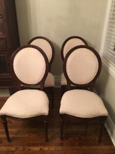 Traditional English Mahogany Dining Chairs 6x