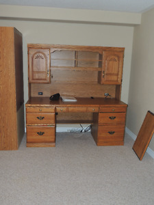 Home Office Desk with matching Bookcases