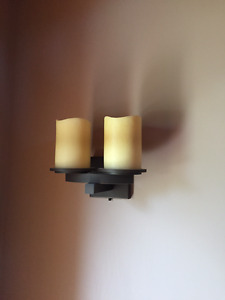 Arts and Craft Style Wall Sconces (2)