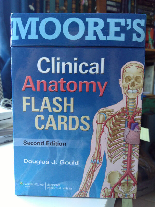 Moores Clinical Anatomy Flash Cards Second Edition Textbooks