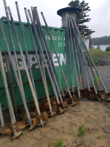 Helical piles used $80 each or all 25 for $1750