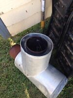 Wood stove T pipe