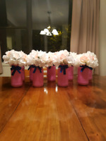 9 centerpieces with flowers