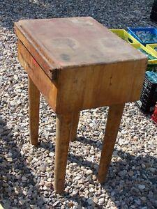 Antique Butcher Block Table Moose Jaw Regina Area image 1