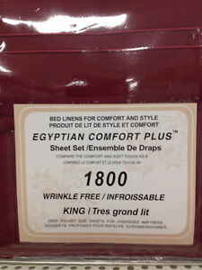 1800 series, Egyptian comfort plus bed sheet.. special price Windsor Region Ontario image 1