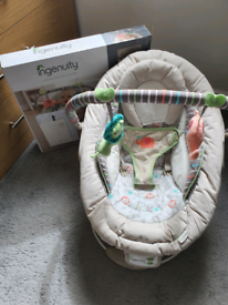 Baby chair bouncer with vibration and music