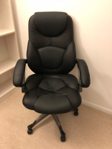 Office Chair - Leather, padded arm rests