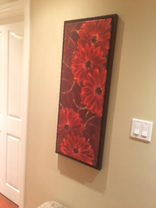 FRAMED PAINTED CANVAS