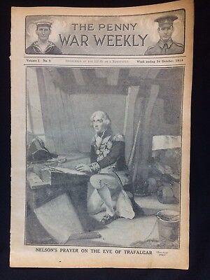 Original WW1 Penny War Weekly Publication Volume 1 No:8 October 1914