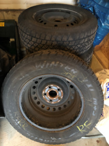 4 Winter Tires mounted on rims for sale - 235/65R16