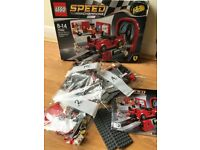 Parts of LEGO Speed Champions (from kit 75882 Ferrari Development Center)