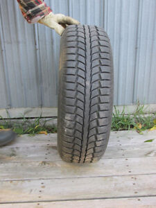 Used Uniroyal Tiger Paw Snow Tires on Rims