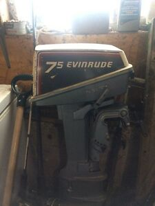 7.5 evinrude 2 stroke long shaft