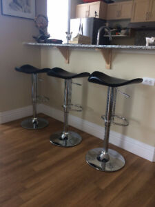 Three Beautiful Contemporary Bar Stools for Sale