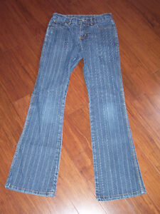 Ladies Pin Striped Coco Jeans  Size 3