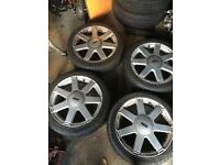 "Ford 16"" alloy wheels & tyres"