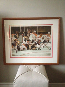 Andy Donato print Montreal Canadiens Boston Bruins 1977