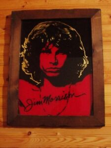 Mirrored Picture of Jim Morrison in Dark Hardwood Frame