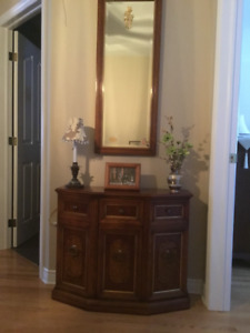 Commode with matching mirror