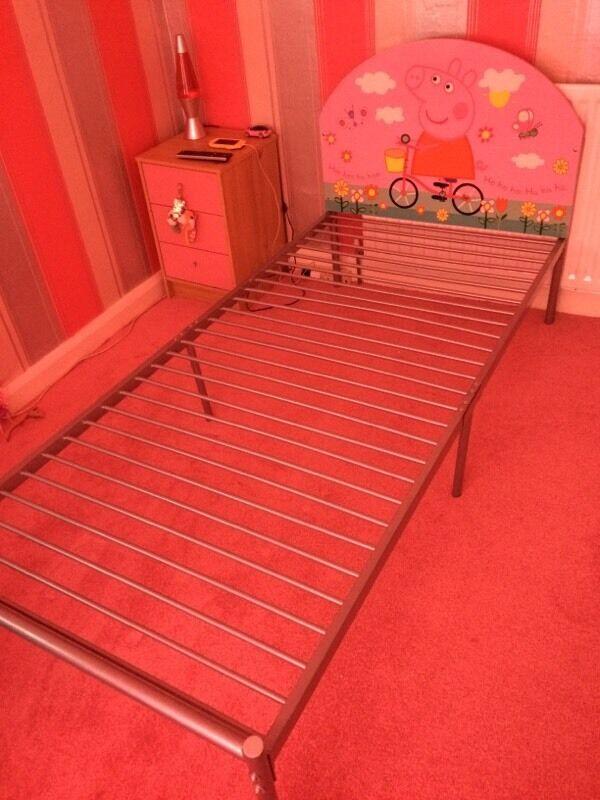 Peppa Pig Metal Bed Frame Single Sfs