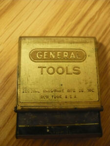 "Porte-allumette en brass , ""General Tools"" Ny USA"