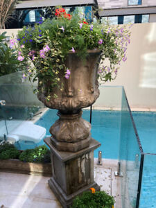Concrete Italian Garden Planters, Benches and Statues