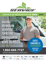 RÉPARATION SPAS - Ouverture / Déménagement / Pièces