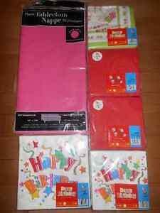New-Tablecloth & 5 packs of napkins - $5