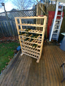 Wine Rack and Extra Bottles