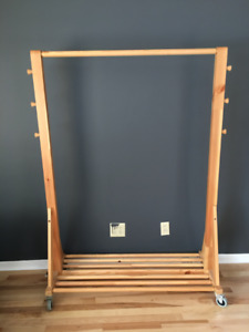 Beautiful clothes rack made from solid wood, good condition