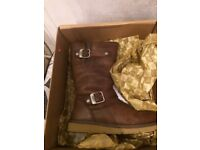 Junior leather ugg boots size 3
