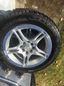 15' American race rims and winter tires