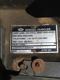 Land Rover td5 engine & manual gearbox