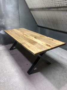 LIVE EDGE and Straight Edge  DINING/HARVEST TABLES
