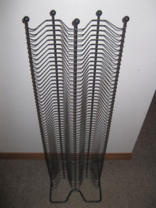 FOR SALE: brand new black solid CD rack (for 120 cds)