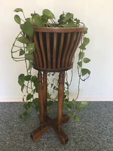 Solid mahogany plant stand.