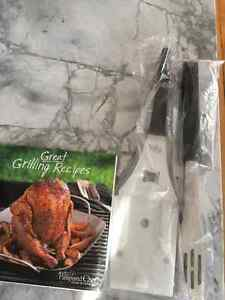 BBQ Turner, Tongs, Cookbook - Pampered Chef - New!