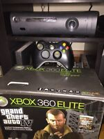 XBOX 360 Elite 120gb with over 50 games! In box complete