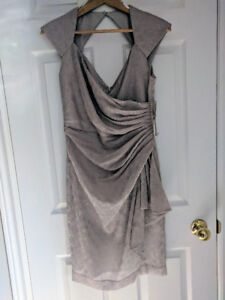 Maggy London Wrap Cocktail Dress Size 4 NWT