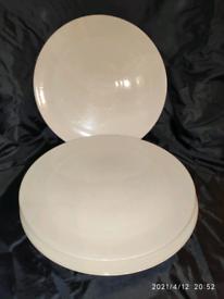 28cm Denby Linen Dinner Plate