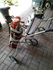 Men's & Woman's Golf Clubs, Bags & Carts both for $85