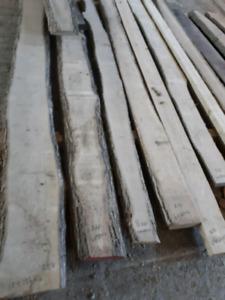 Hard wood, Lumber, live edge boards, beams
