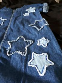 Bundle 1x denim dress + 1x Joules skirt
