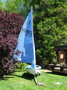 Sail Boat and Road Trailer