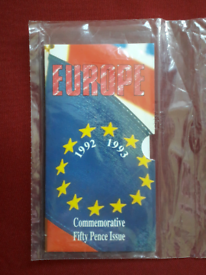 1992/93 EEC 50p coin - unopened brilliant uncirculated pack + coin
