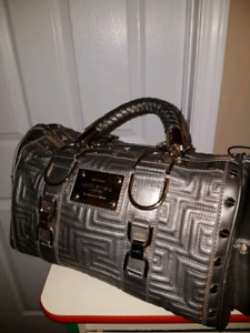 Gianni Versace Grey gun metal Handbag Purse